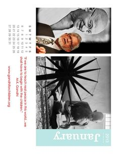 2013 New Year Gandhi Calendar 2013 Calendar, Gandhi, In This World, Peace, Tours, Teaching, Education, Children, Movie Posters