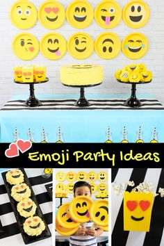 Emoji Party Ideas by Michelle's Party Plan-It