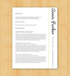 Modern Resume Design Cover Letter Design Resume & Cover Letter Writing  Pinterest