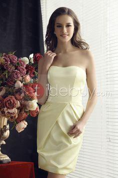 #Dress #Collection #Column Fabulous Ruched SheathBridesmaidsColumn Knee-Length Strapless Sandra's Bridesmaids Dress