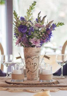 Wedding    Centerpieces»26 Ideas to Rock Your Winter    Wedding with Birch Centerpieces