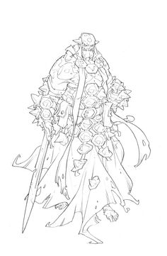 Massive Darkness | Edouard Guiton Character Drawing, Character Concept, Concept Art, Coloring Books, Coloring Pages, Dungeons And Dragons Art, Samurai Art, Creature Concept, Illustrator Tutorials