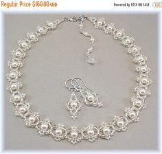 10% Off Through 10/30/15 Bridal Choker Necklace by BridalDiamantes