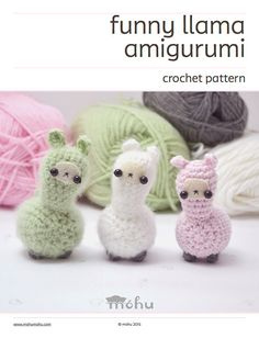 crochet llama pattern  cute amigurumi plush pattern von mohustore