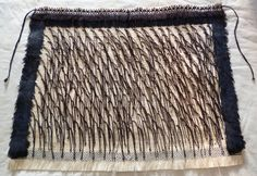 My first Korowai – Weaving Is Pretty Awesome Flax Weaving, Feather Cape, Flax Fiber, Maori Designs, Maori Art, Kiwiana, Weaving Projects, Bone Carving, Weaving Patterns