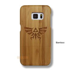 Triforce Galaxy S7 Case - Samsung Galaxy S7 Solid Total Wood Case - SDTRE0014