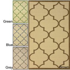 "@Overstock.com - nuLOOM Bold Modern Trellis Indoor Outdoor Area Rug (5' 3"" x 7' 9"") - This unique Moroccan area rug features a simple design that will complement your decor. The simple design of this rug allows you to add Moroccan flair while letting other elements of your decor shine. The polypropylene rug can even be used outdoors.  http://www.overstock.com/Home-Garden/nuLOOM-Bold-Modern-Trellis-Indoor-Outdoor-Area-Rug-5-3-x-7-9/8101216/product.html?CID=214117 $98.02"