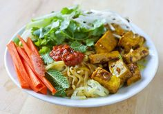 Vietnamese Rice Noodle Salad with Curry Lemongrass Tofu by mschro