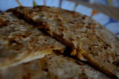 Soya (meal maker) keema paratha with step by step photos Tasty Bread Recipe, Bread Recipes, Naan, Spicy, Meals, Healthy, Kitchen, Desserts, Photos