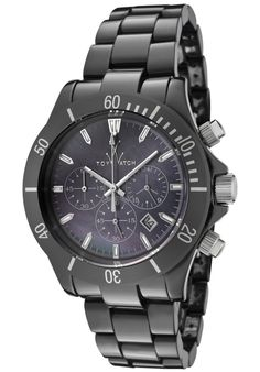 Click Image Above To Purchase: Toywatch Women's Mavi Ceramic Black Mother Of Pearl Dial Chronograph Black Cera Rock Watch, Morgan Black, Black Mother, Red Accents, Glam Rock, Watches, Casio Watch, Toywatch, Michael Kors Watch