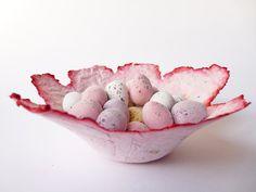 Trinket Dish OOAK Paper Bowl by OKIFOLKI on Etsy, £10.00