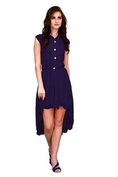 Blue plain Georgette kurtis    Blue Kurtis, blue color kurtis, royal blue colour kurtis, blue Kurtis online, blue kurti Kurti, Latest Fashion, Shops, Dresses For Work, India, Clothes For Women, Awesome, Blue, Beautiful