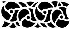 Border No 155 stencil from The Stencil Library ART DECO range. Buy stencils online. Stencil code DE303.
