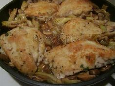 Moore babies: {Pinned there, Done that} Chicken & Artichokes in a White Wine Sauce