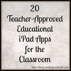 Looking for some new and fun educational apps for your class iPads?  Check out the apps below for everything from math practice to lesson recording for cen