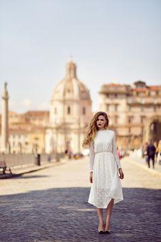 white #dress