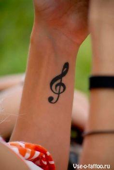 Татуировка-нота-на-предплечье