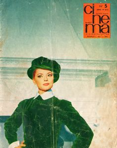 """Front cover of """"Cinema"""" magazine (May Socialist State, Socialism, Warsaw Pact, Channel, Central And Eastern Europe, Italian Actress, Film, Cinema, Magazine"""