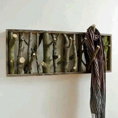 Recycled coat rack
