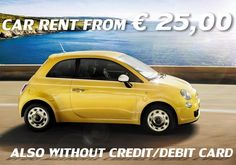 www.tourdelgolfo.com rent a fiat 500 from 25 euro without debit card