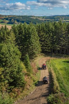 A paradise for quad biking, the Matapédia Valley offers over 690 km of trails along logging and country roads, many of which can be explored on loop rides during day trips. Quad, Destinations, Excursion, Day Trips, The Ordinary, Trail, Paradise, Photos, Images