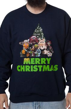 Muppets Christmas Faux Ugly Sweater: Muppets Mens Sweatshirts