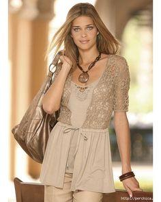 Fabric and crochet blouses...♥ Deniz ♥
