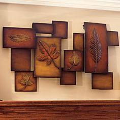 Abstract Leaf Metal Wall Art