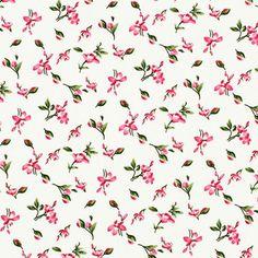 Cotton Flower Antoine 4 - Bomull - pink
