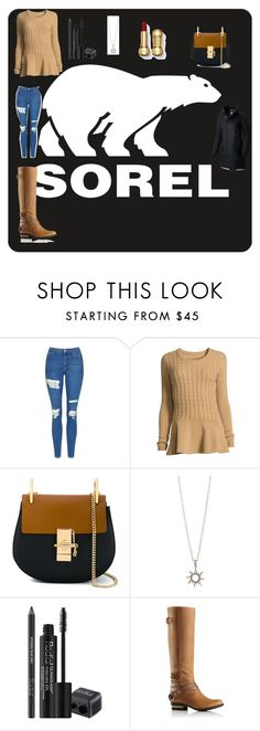 """""""Tame Winter with SOREL: Contest Entry"""" by awseome-girl-5953 ❤ liked on Polyvore featuring SOREL, Topshop, Neiman Marcus, Chloé, Rodial and sorelstyle"""
