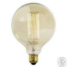Edison Glühbirne VINTAGE Ball ø13cm - chic24 - Vintage Möbel und Industriedesign…
