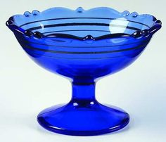 Mt. Pleasant glass co | Pattern: Mt. Pleasant-Cobalt Blue by SMITH GLASS CO
