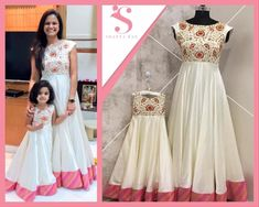 IM for details and orders⠀⠀⠀⠀ Will be customized if needed⠀⠀⠀⠀ There can be Slight variation in design/pattern ⠀ Mother daughter duo can also be made⠀⠀ Mom Daughter Matching Dresses, Mom And Baby Dresses, Dresses Kids Girl, Mother Daughter Fashion, Mother Daughters, Kids Blouse Designs, Kids Frocks Design, Kids Dress Patterns, Long Gown Dress