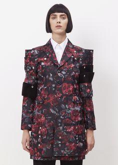 Comme des Garcons Shoulder Jacket (Black / Red Flower)