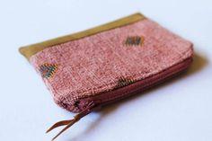 Boho Aztec Purse, Zipper Card Holder, Coin Purse, Change Pouch, coin pouch, Card Wallet, Zipper Pouch, Small purse, tobacco pouch, bohemian purse