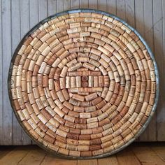 Handmade cork board from recycled wine corks. Hundreds of quality wine brands from around the world! Perfect for a blank wall or for a place to
