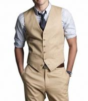Possibly something like this for Jason to wear.  I want it a little relaxed, but still sophisticated.  I don't think a jacket would be necessary.