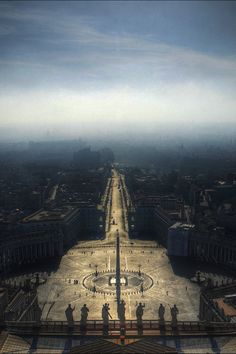 From the Dome of St. Peters Basilica, Vatican City, Italy. Photo by Marcel Germain