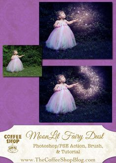 free tutorial/action/brush for Photoshop/PSE to make a fairy dust effect on your image