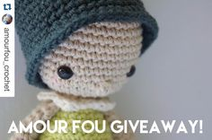 The cutest crochet patterns  #AmourFou10K  #Repost @amourfou_crochet with @repostapp.  { Hello!!!! I am still so happy with Amour Fou's first 10k followers on Instagram that I want to celebrate with a giveaway!!! YES!! I will be giving away 5 patterns to be chosen by the 5 lucky winners from Amour Fou's etsy store. Most patterns are available in English Spanish French and Deutsch. THIS IS WHAT YOU HAVE TO DO: 1. Follow @amourfou_crochet on Instagram 2. Repost this photo using the hashtag…