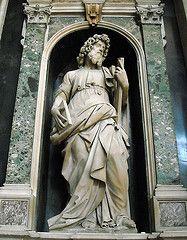 """Saint Andrew"" - Statue (1600) by Michelangelo Naccherino - Church of Gesù Nuovo in Naples"