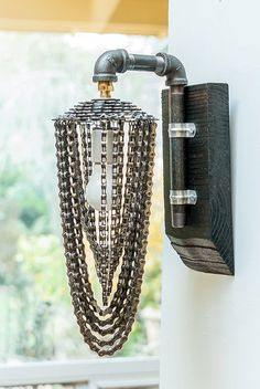 industrial chic wall sconce - The Helix on Etsy