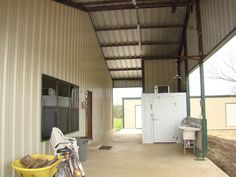 Metal Building Home w/ Wooden Cover-up Porch (9 pictures) | Metal Building Homes