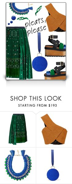 """LOVE PLEATS"" by iraavalon ❤ liked on Polyvore featuring Sacai, Rosetta Getty, Ricardo Rodriguez, Diane Von Furstenberg and Topshop"