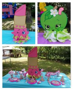 My daughter is in love with Shopkins and she wanted nothing more than a S hopkins birthday theme. I handmade her favori. 6th Birthday Parties, Birthday Party Favors, Birthday Decorations, Girl Birthday, Birthday Ideas, Fete Shopkins, Shopkins Bday, Awesome Shopkins, Candy Party