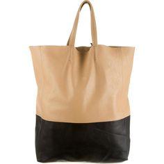 buy celine luggage online - bag apricot/black C��LINE Cabas Vertical Tote | Celine Cabas ...
