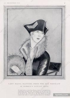 Caroline Reboux 1924 Lady Diana Manners Portrait