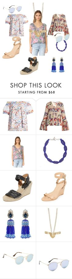 """""""Spring flowers"""" by jamuna-kaalla ❤ liked on Polyvore featuring Peter Pilotto, MSGM, Free People, Etro, Soludos, Loeffler Randall, Shourouk, Aurélie Bidermann, Ray-Ban and vintage"""