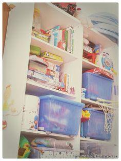 Juguetes organizados. Organized toys
