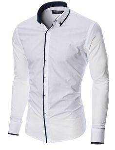 MODERNO Slim Fit Mens Casual Button-Down Shirt (MOD1445LS) White. FREE worldwide shipping! 30 days return policy